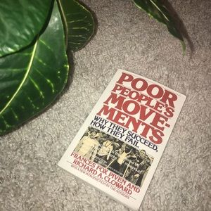 Poor People's Movements: Why They Succeed/Fail